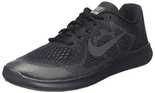 Nike Kids Free Rn 2017 (GS) Black/Anthracite/Dark Grey Running Shoe 7 Kids US