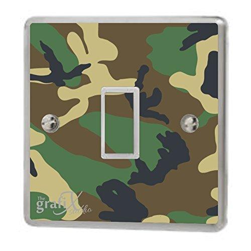 Army Camouflage Light Switch Sticker Vinyl/Skin cover sw11