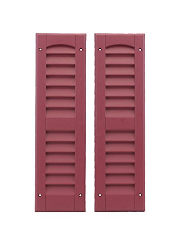 Louvered Shed Shutter or Playhouse Shutters Maroon 6' X 21', 1 Pair