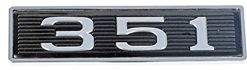 Mustang 351 Classic Hood Scoop Shaker Emblem in Chrome & Black