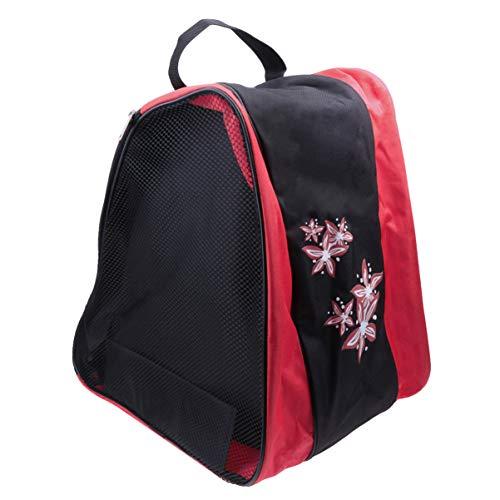 BESPORTBLE Inline-Skatetasche Eislauftasche Rollschuh-Snowboardschuh-Tragetasche für Kinder Und Erwachsene (Rot)