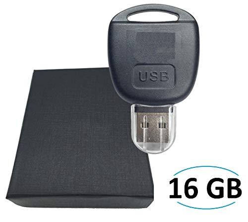 Chiavetta USB, a forma di chiave telecomando per auto, decorata con logo Toyota, 16GB In confezione regalo.
