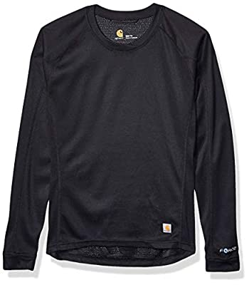 Carhartt Women's Force Midweight Tech Thermal Base Layer Long Sleeve Shirt, Black, X-Small