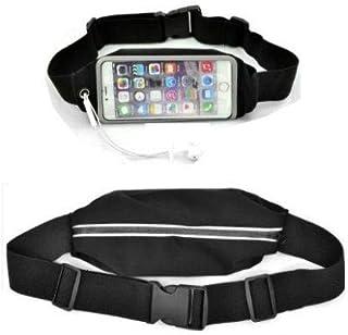 حافظة هاتف بحزام خصر رياضة الجري والجيم لهاتف آيفون 7 بلس باللون الأسود