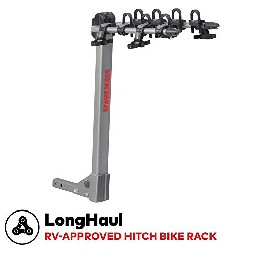 YAKIMA - LongHaul Premium Hitch Bike Rack for RV and Travel-Trailer, 4 Bike Capacity