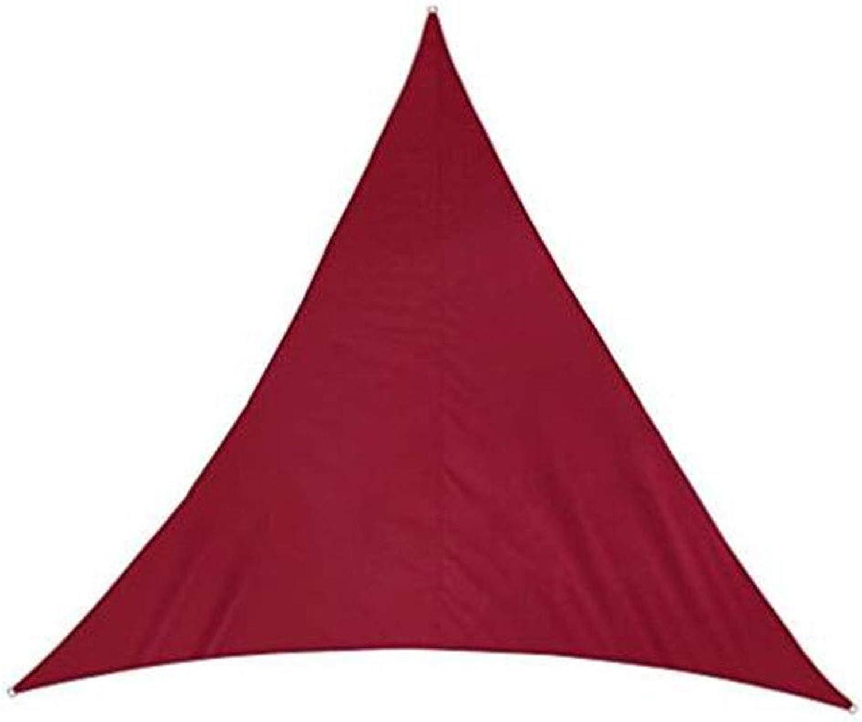 GDMING-Sichtschutznetz Sonnensegel Dreieckiges Sonnensegel Anti-UV Terrasse D-frmiger Metallring Polyester 5 Gren 8 Farben (Farbe   Rot, gre   5x5x5m)