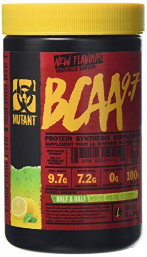 MUTANT BCAA 9.7 Supplement BCAA Powder with Micronized Amino Acid and Electrolyte Support Stack, 348g (.77 lb) - Half n Half Iced Tea