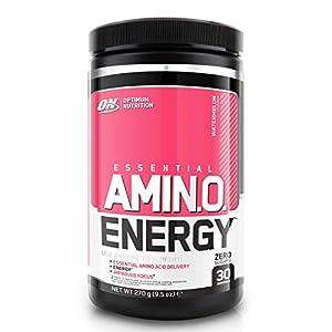 Optimum Nutrition Amino Energy Pre Workout Powder Keto Friendly with Beta Alanine, Caffeine, Amino Acids and Vitamin C, Watermelon, 30 Servings, 270 g
