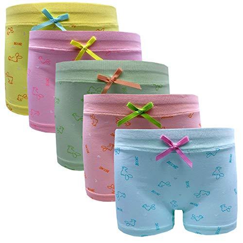 Czofnjesi Girls Boyshort Hipster Panties Cotton Panty Underwear (5 or 6 Pack) (3-5T, A)