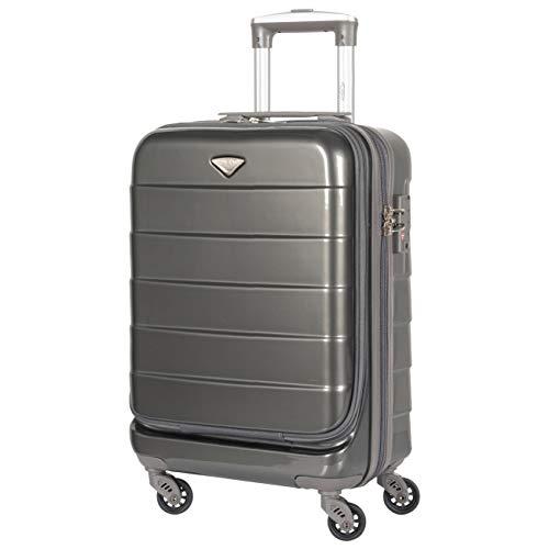 Flight Knight laptopcompartiment Handbagage TSA-slot 4 wiel ABS harde koffer Werk Zakelijke reistas easyJet Ryanair BA Flybe goedgekeurd 55x35x20cm