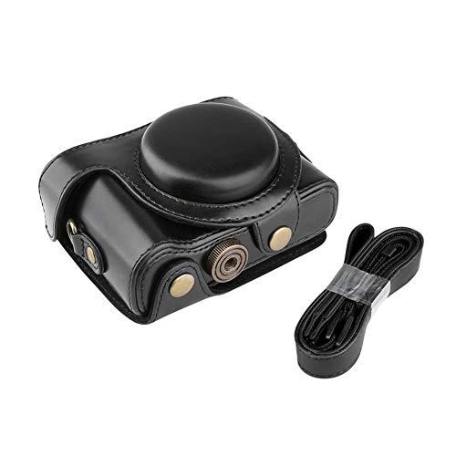 Zenness Funda de Cuero Caso/Cubierta/Caja/Bolsa Protectora de PU para Sony Cyber-Shot DSC-HX60 HX50 HX30 Camara compactas (Negro)