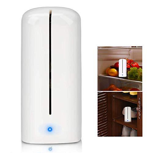 Powcan Ozono Refrigerador Purificador Refrigerador Esterilizador Desodorante Mini Absorbente de Olor Eliminador de Olor Purificador de Aire para Congelador, Gabinete de Zapatos, Armario