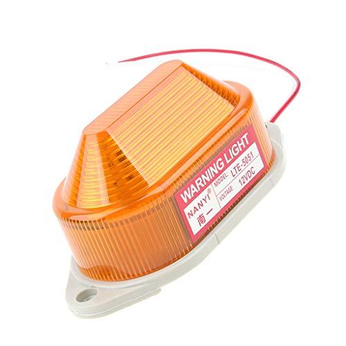 Almencla 12V Stroboskopische Warnlicht Signal Leuchtfeuer Gelb Lampe Für Industrie