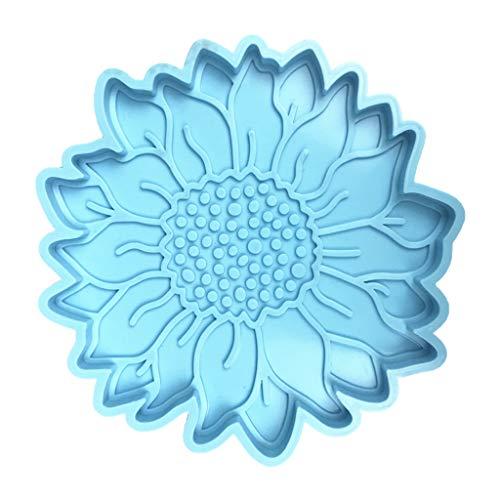 MENGSHI Molde de silicona para manualidades, decoración de girasol, posavasos de resina epoxi para manualidades hermosas y creativas
