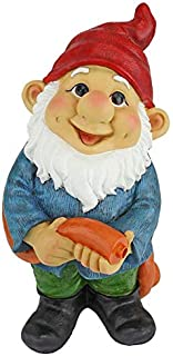 Garden Gnome Statue - Hose it Off Harry Piped Statue Gnome Fountain - Garden Gnome Fountain - Lawn Gnome
