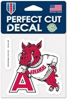 Wincraft NCAA University of Arkansas Razorbacks 4x4 Perfect Cut Decal