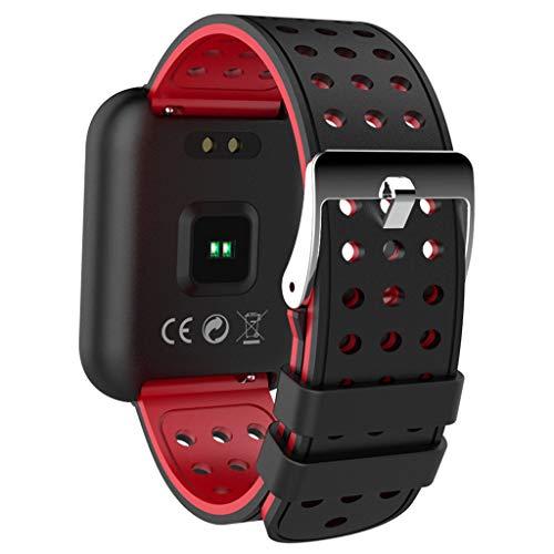 Multisport-GPS-Uhr,C68 Smartwatch, Fitness Armband Wasserdicht Smart Watch Intelligente Fitness Tracker Aktivitäts Uhr Armbanduhr mit Pulsmesser Schlafmonitor Anruf Beachten Damen Herren