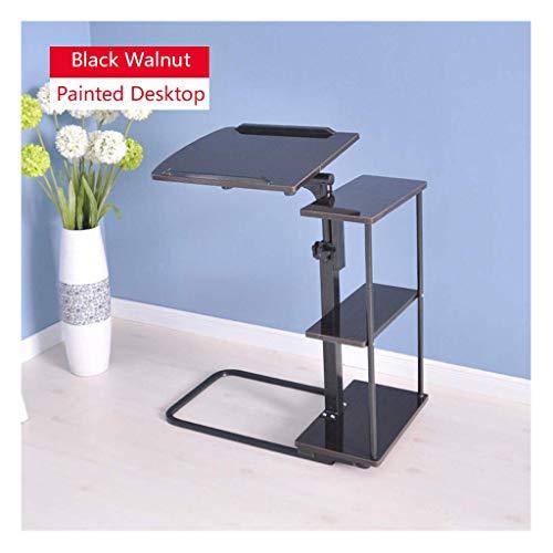 ELYSYSRL Tavolino Comodino Tavolo del Portatile consolle può Sollevare Pieghevole in Mobile Tavolino Lato Divano Tavolino-Noce nero-27.54X15.75pollice