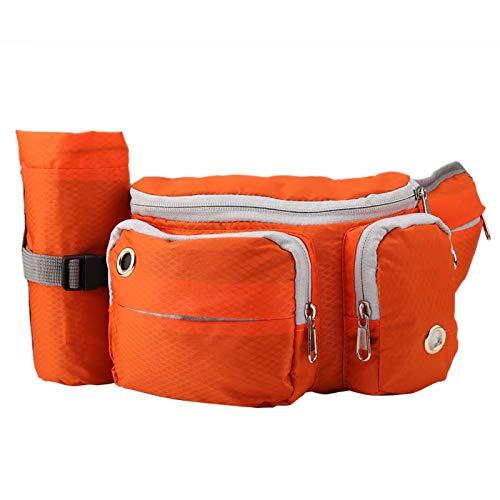 Semiter Riñoneras, Bolsa para Mascotas con Correa para Correr, Bolsas para Entrenamiento de Perros para Mascotas, Gatos(Orange)