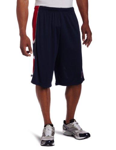 MLB Men's Boston Red Sox Team Slogan Synthetic Training Shorts (Athletic Navy/Athletic Red/White, X-Large)