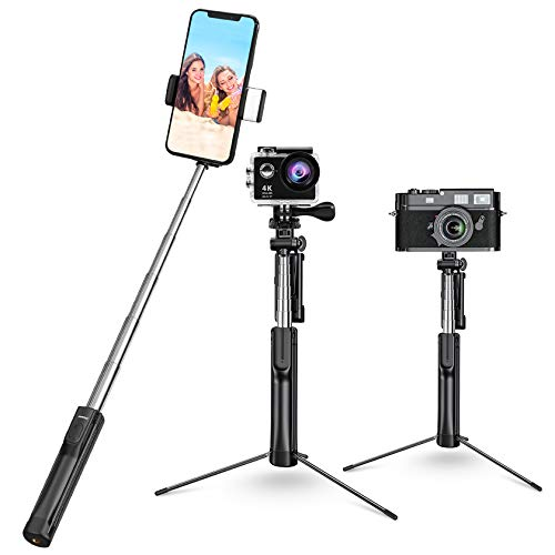 Selfie Stick, Mpow Pocket Tripod Selfie Stick Tripod Stand with Light and Extendable...