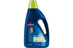 1 bottle containing 1.5 litres. Suitable for use with all Bissell deep cleaning machines. EAN: 011120183047. Double concentrate carpet cleaner for tough pet stains 1 bottle containing 1.5 litres