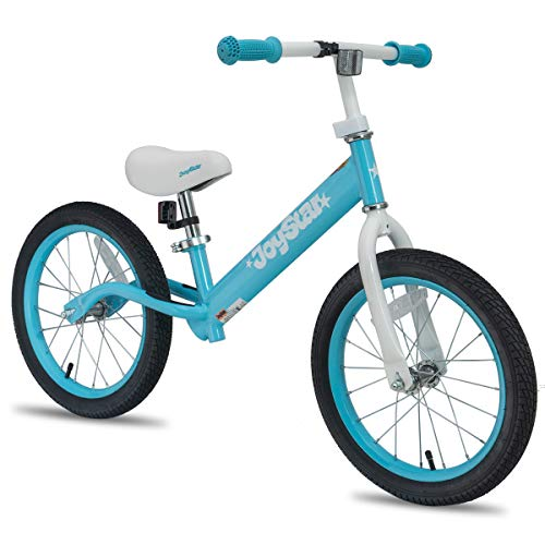 """JOYSTAR 16"""" Balance Bike for Big Kids 5, 6, 7, 8 and 9 Years Old with Rubber Tire and Adjustable seat, Blue"""