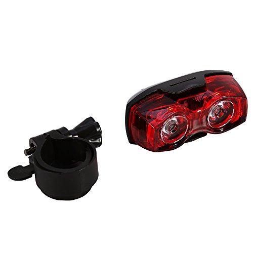 Luz trasera para bicicleta, ciclismo, 2 luces LED intermitentes, luz trasera de seguridad, trasera trasera, nueva luz brillante de advertencia para bicicletas, se adapta a cualquier bicicleta de carre