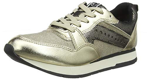Tamaris Damen 1-1-23604-23 Sneaker, Gold (Gold Comb 943), 40 EU