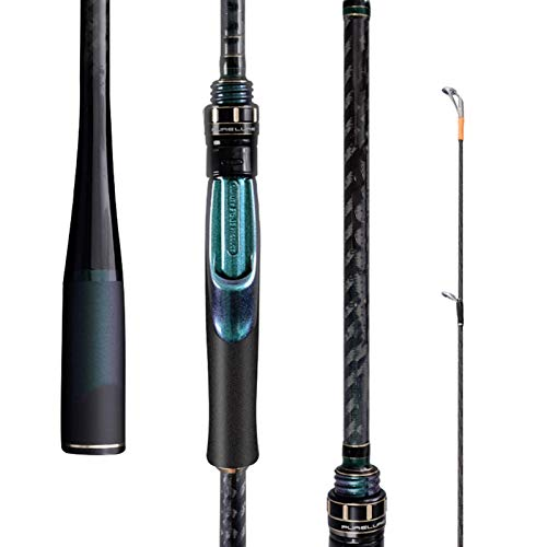 LAMZH Slow Jigging Rod 2020 New Fuji M ML Power Lure Rods 2.4m-2.7m Import High Carbon Ultralight Fast Tuning Long Shot Spinning Lure Fishing Rods Telescopic Fishing Rod (Length : A)
