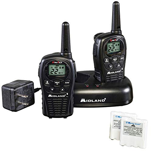 Midland - LXT500VP3, 22 Channel FRS Walkie Talkies with Channel Scan - Extended Range Two Way...