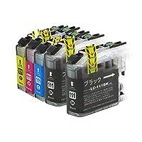 LC111PG-4PK ブラザー互換インクカートリッジ brother LC111シリーズ 4色セット(ブラックのみ顔料)+顔料ブラック インクファクトリー