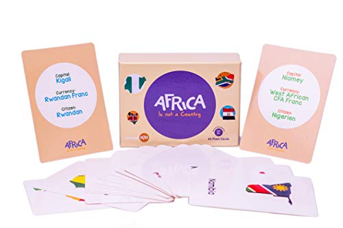 Flash Cards Africa is not a Country Educational and Fun by Nomadkids -Picture words
