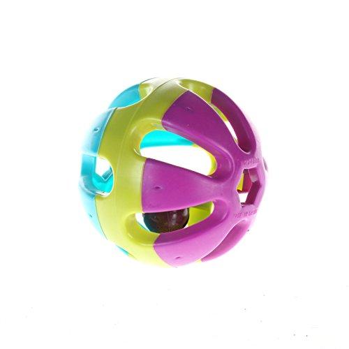ZFE Bird Toy Bell palle colorate a sfera per Budgie Finch Parrot coniglio gatto criceto
