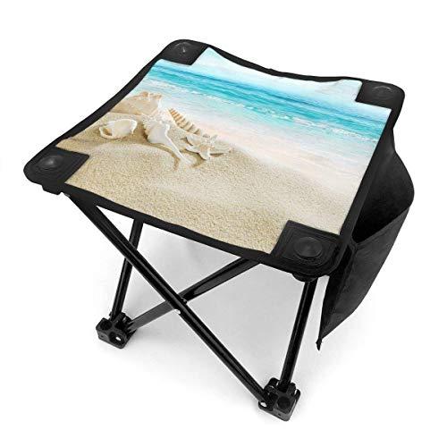 End Nazi Tabouret de Camping chaises Pliantes Starfish Seascape Sea Beach Siège de Chaise Portable