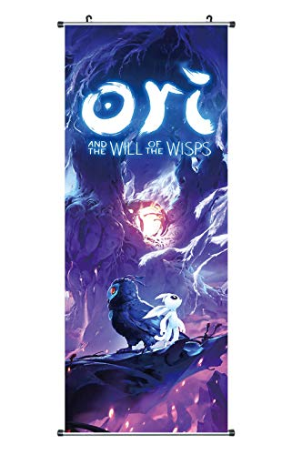 CoolChange Großes Ori and The Will of The Wisps Rollbild | Kakemono aus Stoff | Poster 100x40cm