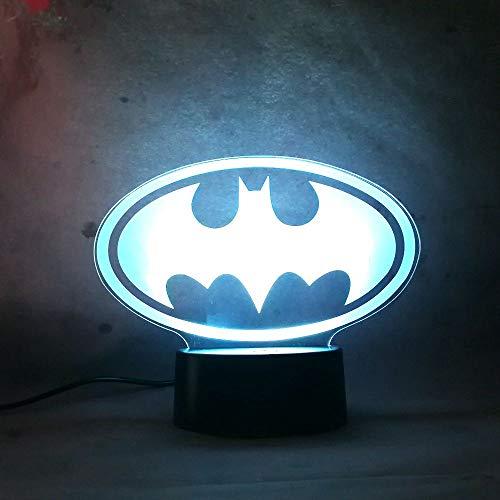 LED Night Light for Baby 7 Color Change Remote Control Smart Lamp Mavel Legend Batman Toy Action Figure Sleep Lamp for Kid