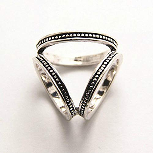 Broches triangulares Broche de bufanda de seda con diamantes de imitación Accesorios de joyería Soporte de clip de anillo de chal Hebilla de bufanda tricíclica Regalos de mujer, Plata antigua
