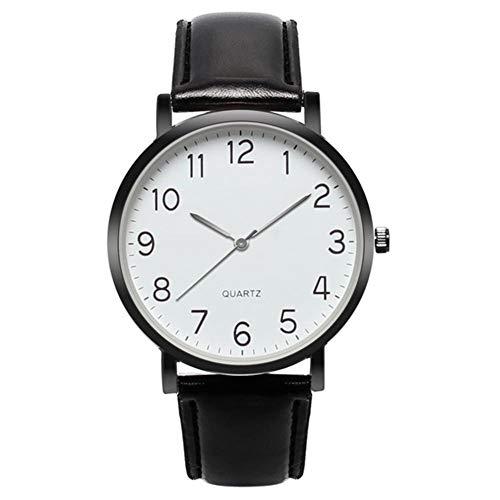 Guapo Reloj de hombre elegante brillante, hombres de moda relojes para hombres Banda de cuero para hombres Unisex Simple Busines Aleación analógica Vintage Reloj de cuarzo Top Marca Reloj masculino Re