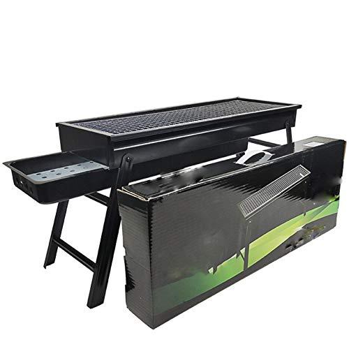 4100yVfwO8L. SL500  - Kunyun Tragbarer Holzkohlegrill – klappbarer Edelstahl-Grill Campinggrill (Farbe: Schwarz, Größe: 60 x 22 x 33)