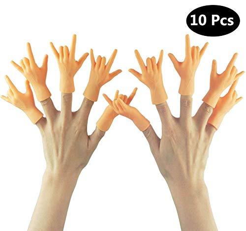 Yolococa Tiny Hands Kleine Hände Fingerpuppen Linke und Rechte Hand (Rock 'n' roll ) 10 Stück