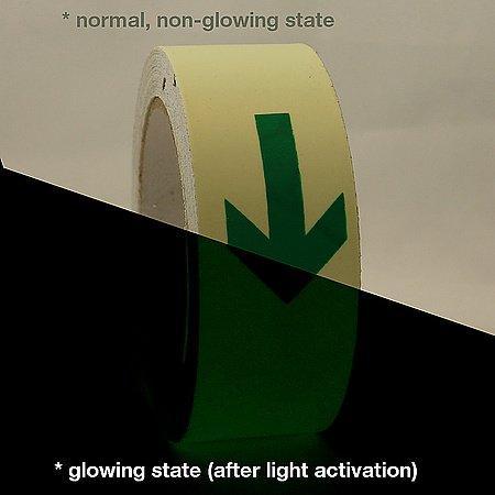 JVCC GLW-S Leuchtet im Dunkeln Signalband: 1-1/2 in. x 32.8 ft. (Lumineszierender Lindgrüner Pfeil)