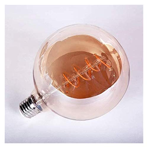 PHH Retro Decor Lamps LED Edison Bulb T45 ST64 G80 G95 G125 Super Spiral Light Bulb Vintage LED Filament Bulb 220V E27 3-4W (Color : G125)