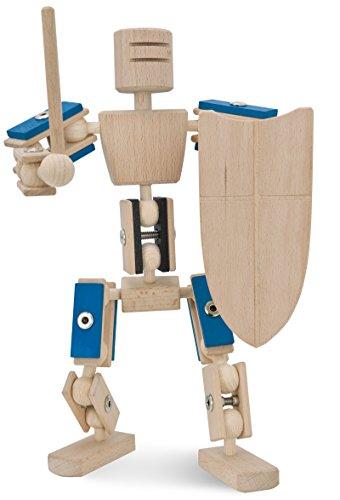 rewoodo Helden Aus Holz Komplettheld Blauer Ritter Holzspielzeug ab 3 Jahren Made in Germany