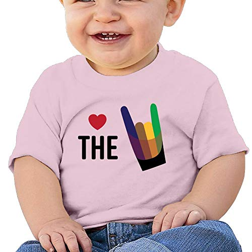 Pmguerxbfhyd Baby Girls Infant The Heart Love Love Hand Short Sleeves Shirt