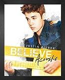 1art1 Justin Bieber Mini-Poster und MDF-Rahmen - Believe,