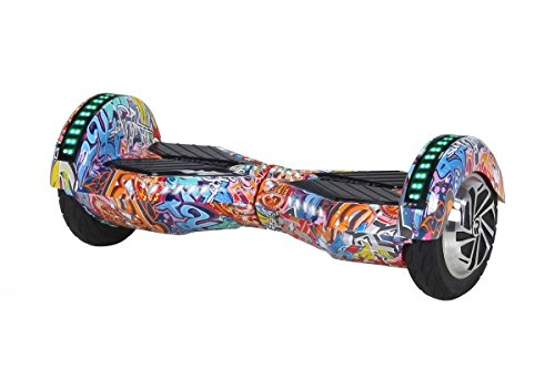 Robway W2 Hoverboard - Das Original - Samsung Marken Akku - Self Balance - 3 Farben - Bluetooth - 2 x 350 Watt Motor - 8 Zoll Reifen (Orange Graffiti)