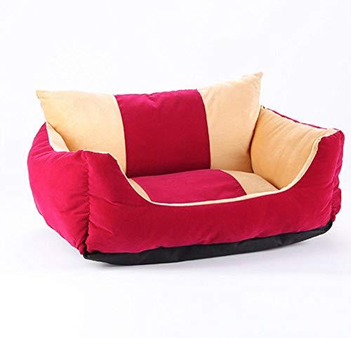 Kennelluxury Hondenslaapbank Soft Velvet Hondenmatras Comfortabel kattennest Puppy Nest House Hondenbank 62X50X27Cm