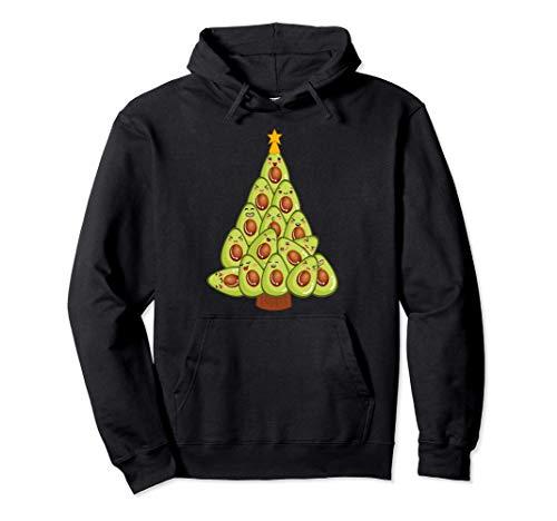 アボカド植物ベースのクリスマスツリービーガンワカモレWFPBギフト パーカー