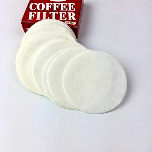 HPPL200Pcs 56mm 60mm 68mm Ronde Koffie Filterpapier Voor Espresso Koffiezetapparaat V60 Druppelfilters Gereedschap Moka Pot Koffie Papieren Filter, Wit, 56mm 200PCS